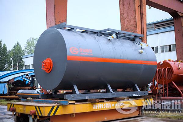 俄罗斯8吨WNS燃油燃气锅炉项目
